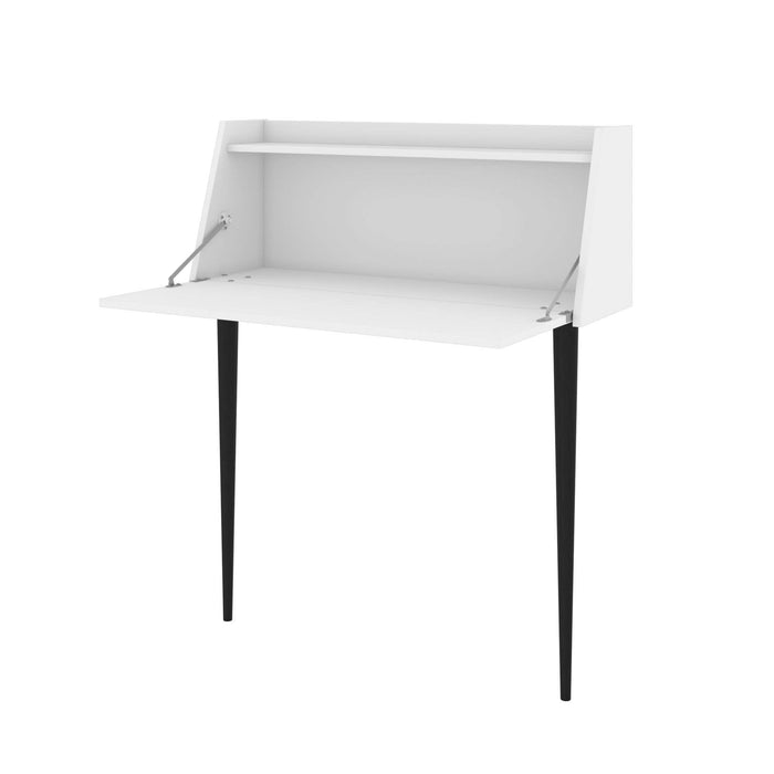 Pending - Bestar Small Desk White Skat Secretary Desk - Available in 3 Colors