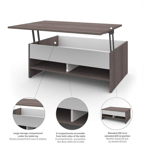 "Pending - Bestar Small Space 37"" Lift-Top Coffee Table - Available in 2 Colors"