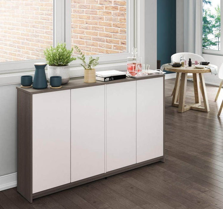 "Small Space 60"" Storage Cabinet - Bark Grey & White"