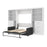Pending - Bestar Sofa Murphy Bed Pur Full Murphy Bed, 1 Sofa and 2 Storage Units with Drawers - Available in 2 Colors