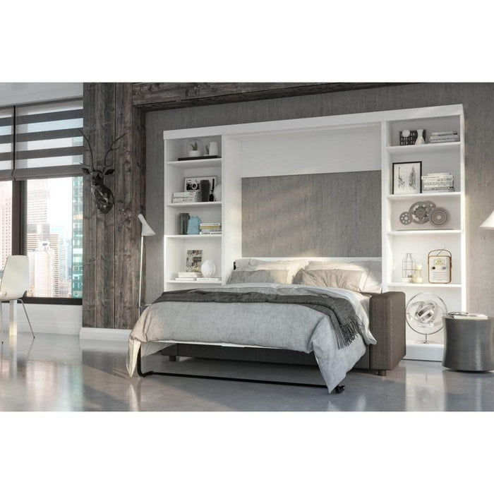 Pending - Bestar Sofa Murphy Bed Pur Full Murphy Bed, 2 Storage Units and a Sofa - Available in 2 Colors