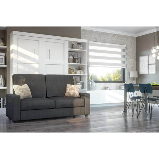 "Pending - Bestar Sofa Murphy Bed Pur Full Murphy Bed, a Storage Unit and a Sofa (84"") - Available in 2 Colors"
