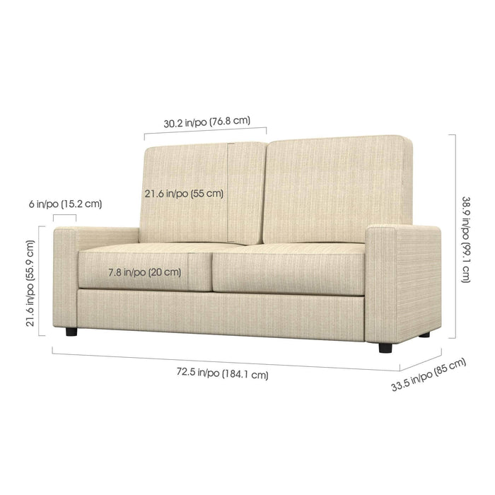 Pending - Bestar Sofa Murphy Bed Pur Full Murphy Bed, two Storage Units and a Sofa - Available in 2 Colours