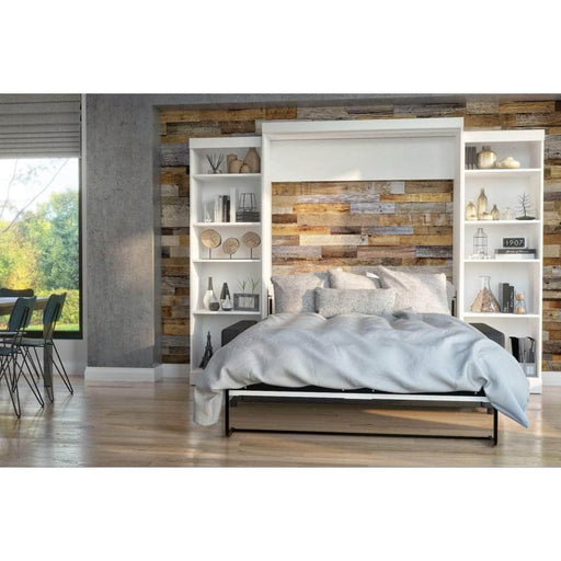 "Pending - Bestar Sofa Murphy Bed Pur Queen Murphy Bed, 2 Storage Units and a Sofa (115"") - Available in 2 Colours"