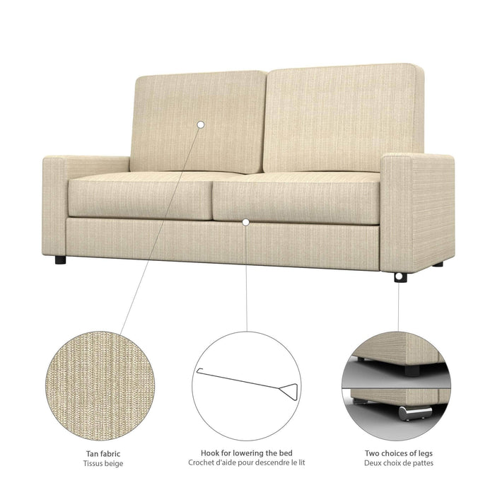 Pending - Bestar Sofa Murphy Bed Pur Queen Murphy Bed and a Sofa - Available in 2 Colours