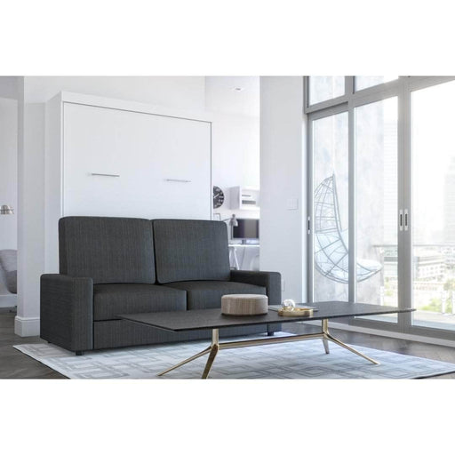 Pending - Bestar Sofa Murphy Bed White Nebula Full Murphy Bed and a Sofa - White