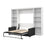Pending - Bestar Sofa Murphy Bed White Pur Full Murphy Bed, 2 Storage Units and a Sofa - Available in 2 Colors