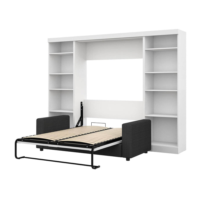 Pending - Bestar Sofa Murphy Bed White Pur Full Murphy Bed, 2 Storage Units and a Sofa - Available in 2 Colours