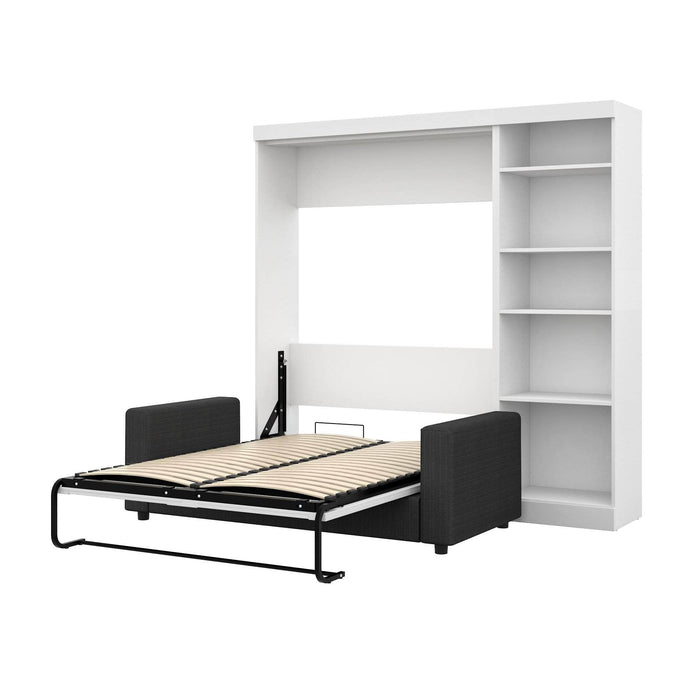 "Pending - Bestar Sofa Murphy Bed White Pur Full Murphy Bed, a Storage Unit and a Sofa (84"") - Available in 2 Colours"