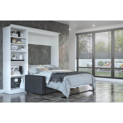 "Pending - Bestar Sofa Murphy Bed White Versatile Full Murphy Bed, a Storage Unit and a Sofa (84"") - White"