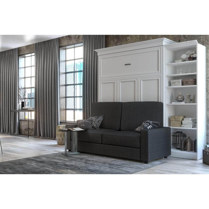 Pending - Bestar Sofa Murphy Bed White Versatile Queen Murphy Bed, a Storage Unit and a Sofa - White
