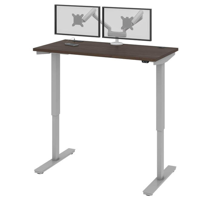 "Pending - Bestar Standing Desk Antigua Upstand 24"" x 48"" Standing Desk with Dual Monitor Arm - Available in 4 Colours"