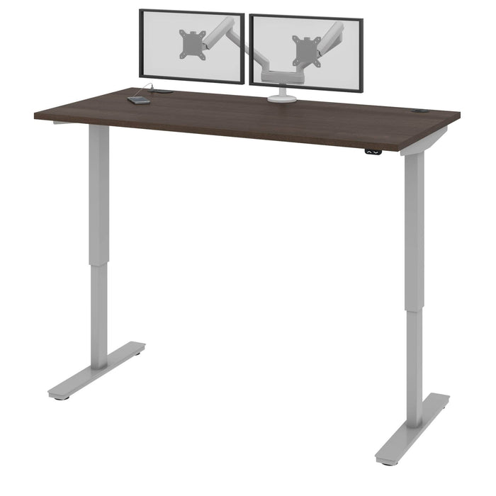 "Pending - Bestar Standing Desk Antigua Upstand 30"" x 60"" Standing Desk with Dual Monitor Arm - Available in 4 Colors"