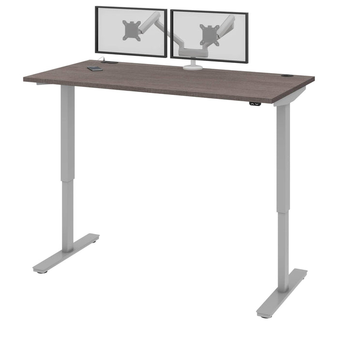 "Pending - Bestar Standing Desk Bark Grey Upstand 30"" x 60"" Standing Desk with Dual Monitor Arm - Available in 4 Colors"