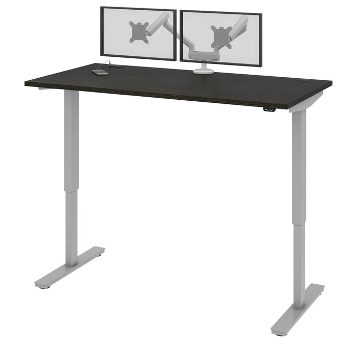 "Pending - Bestar Standing Desk Deep Grey Upstand 30"" x 60"" Standing Desk with Dual Monitor Arm - Available in 4 Colors"