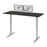 "Pending - Bestar Standing Desk Deep Grey Upstand 30"" x 72"" Standing Desk with Dual Monitor Arm - Available in 4 Colours"