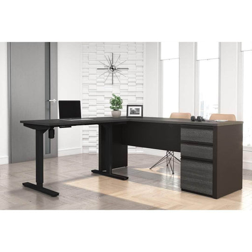 Pending - Bestar Standing Desk Prestige + 2-Piece set including a standing desk and a desk - Available in 3 Colours