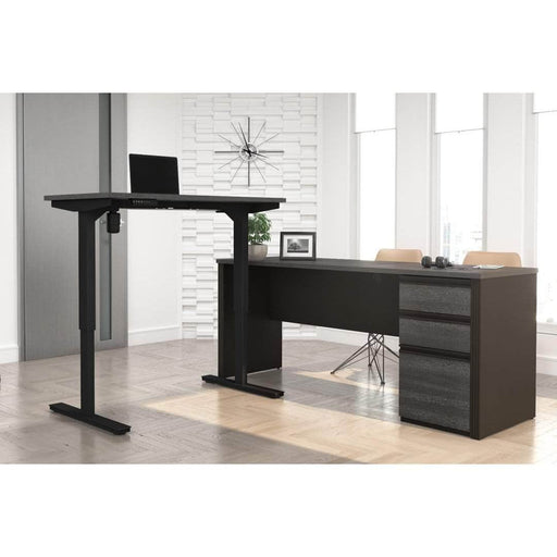 Pending - Bestar Standing Desk Prestige + 2-Piece set including a standing desk and a desk - Available in 3 Colors