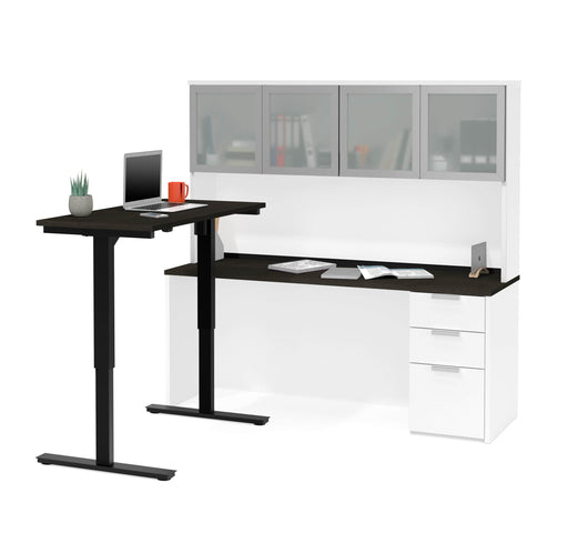 Pending - Bestar Standing Desk Pro-Concept Plus 2-Piece set including a standing desk and a desk with hutch - Available in 2 Colors - 1