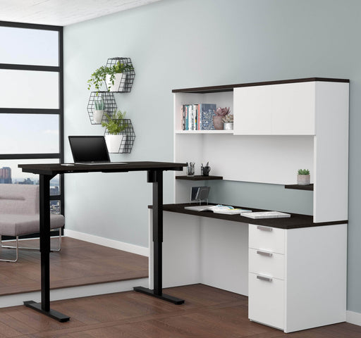 Pending - Bestar Standing Desk Pro-Concept Plus 2-Piece Set Including a Standing Desk and a Desk with Hutch - Available in 2 Colours