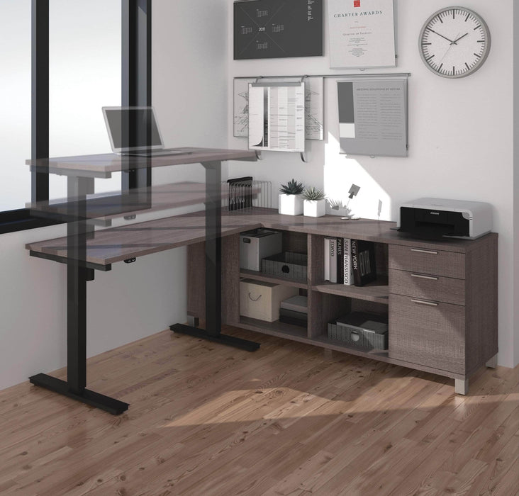Pending - Bestar Standing Desk Pro-Linea 2-Piece set including a standing desk and a credenza - Available in 3 Colors