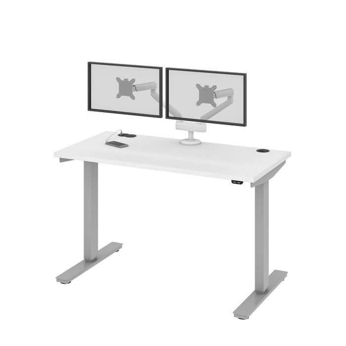"Pending - Bestar Standing Desk Upstand 24"" x 48"" Standing Desk with Dual Monitor Arm - Available in 4 Colours"