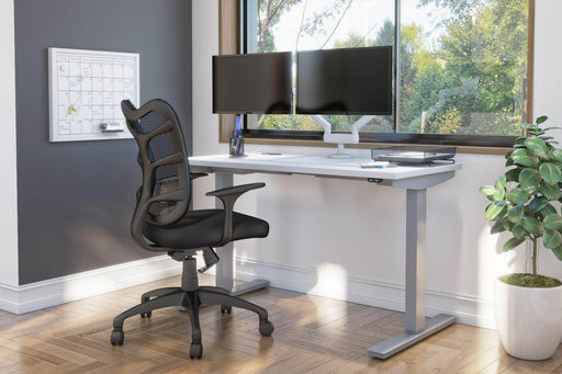 "Pending - Bestar Standing Desk Upstand 24"" x 48"" Standing Desk with Dual Monitor Arm - Available in 4 Colors"