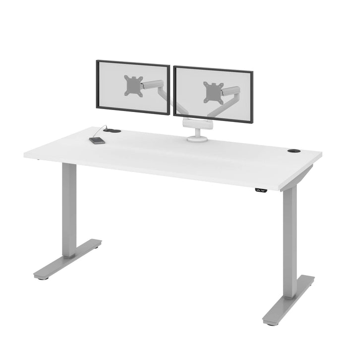 "Pending - Bestar Standing Desk Upstand 30"" x 60"" Standing Desk with Dual Monitor Arm - Available in 4 Colors"