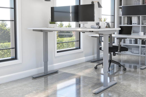 "Pending - Bestar Standing Desk Upstand 30"" x 60"" Standing Desk with Dual Monitor Arm - Available in 4 Colours"