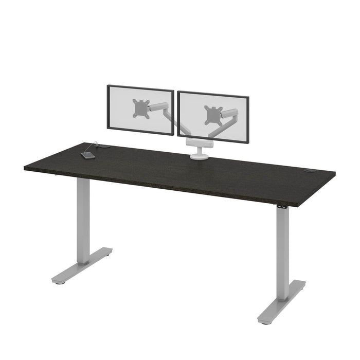 "Pending - Bestar Standing Desk Upstand 30"" x 72"" Standing Desk with Dual Monitor Arm - Available in 4 Colours"
