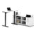Pending - Bestar Standing Desk White Pro-Linea 2-Piece Set Including a Standing Desk and a Credenza - Available in 3 Colors