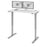 "Pending - Bestar Standing Desk White Upstand 24"" x 48"" Standing Desk with Dual Monitor Arm - Available in 4 Colours"