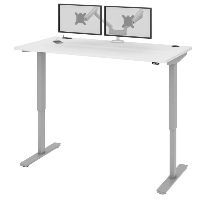"Pending - Bestar Standing Desk White Upstand 30"" x 60"" Standing Desk with Dual Monitor Arm - Available in 4 Colors"