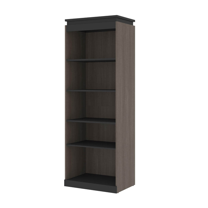 Pending - Bestar Storage Bark Gray & Graphite Orion 30W Shelving Unit - Available in 2 Colors