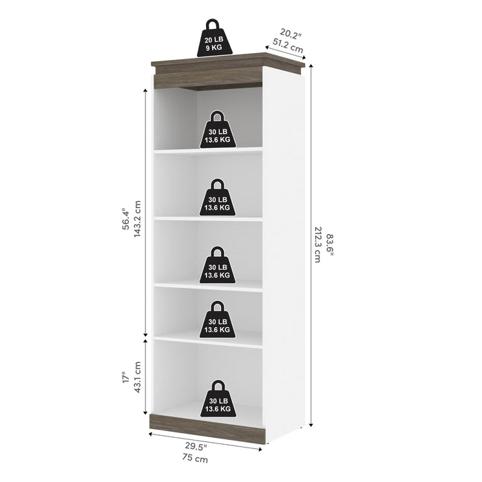 Pending - Bestar Storage Orion 30W Shelving Unit - Available in 2 Colors