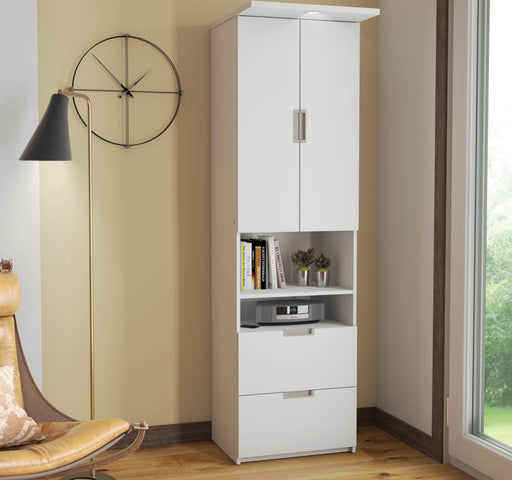 Pending - Bestar Storage Unit Lumina Storage Unit with 2 Drawers - Available in 2 Colours