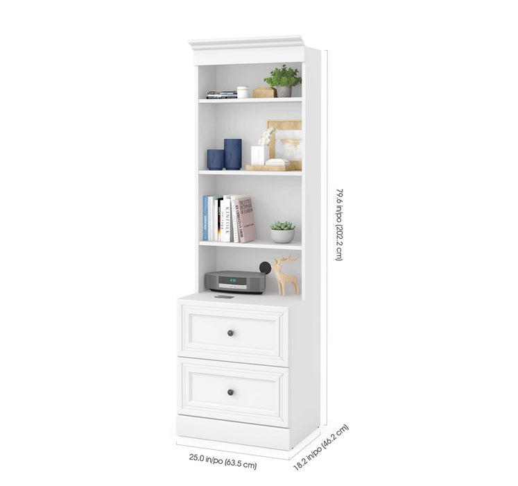"Pending - Bestar Storage Unit Versatile 25"" Storage Unit with 2 Drawers - Available in 2 Colors"