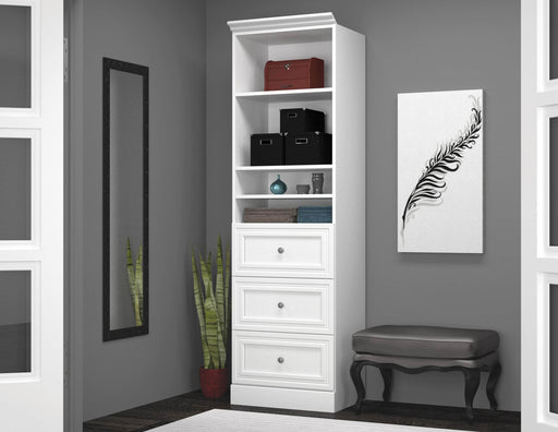 "Pending - Bestar Storage Unit Versatile 25"" Storage Unit with 3 Drawers - Available in 2 Colours"