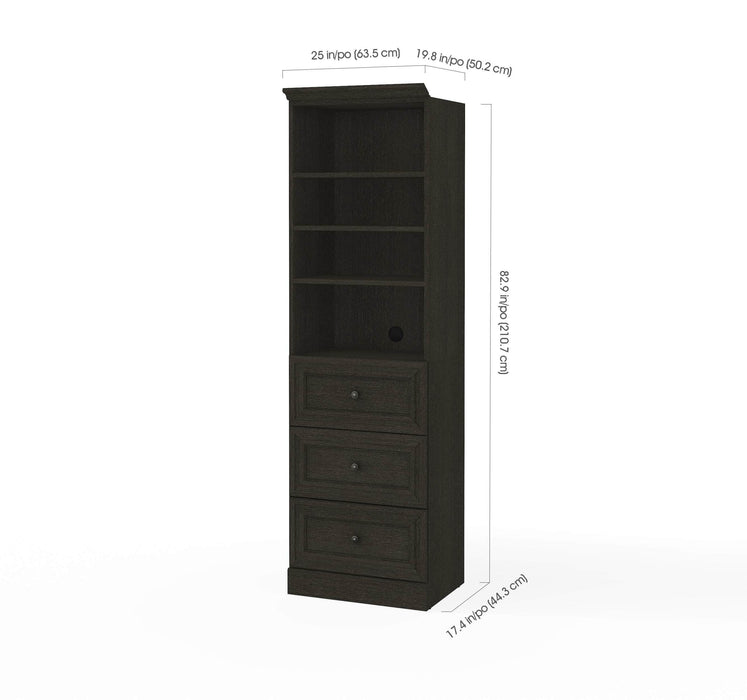 "Pending - Bestar Storage Unit Versatile 25"" Storage Unit with 3 Drawers - Available in 2 Colors"