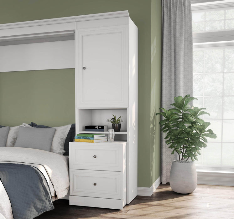 "Pending - Bestar Storage Unit Versatile 25"" Storage Unit with Mobile Nightstand - Available in 2 Colours"