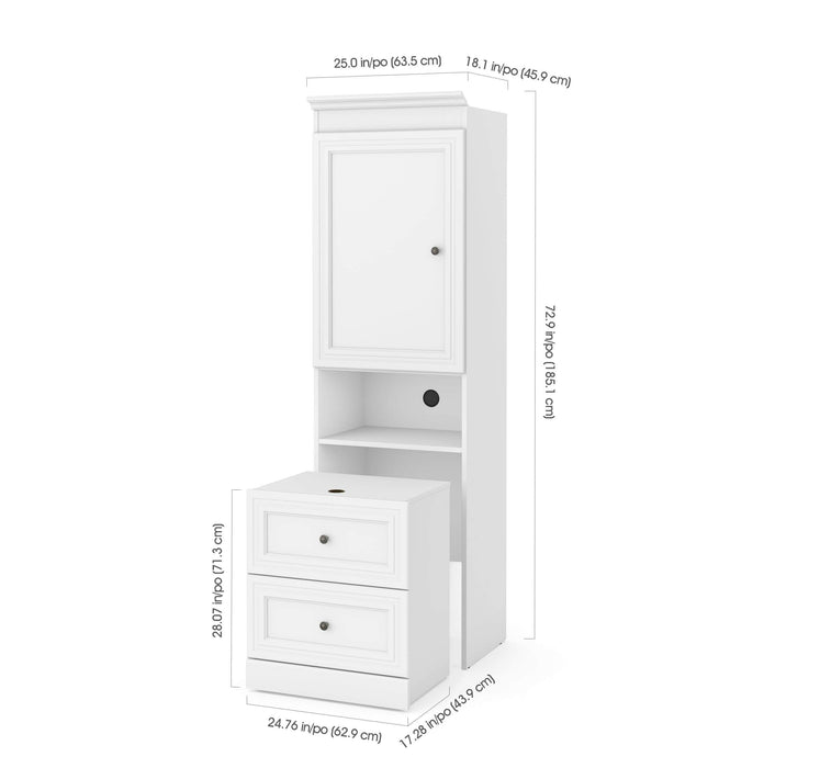 "Pending - Bestar Storage Unit Versatile 25"" Storage Unit with Mobile Nightstand - Available in 2 Colors"