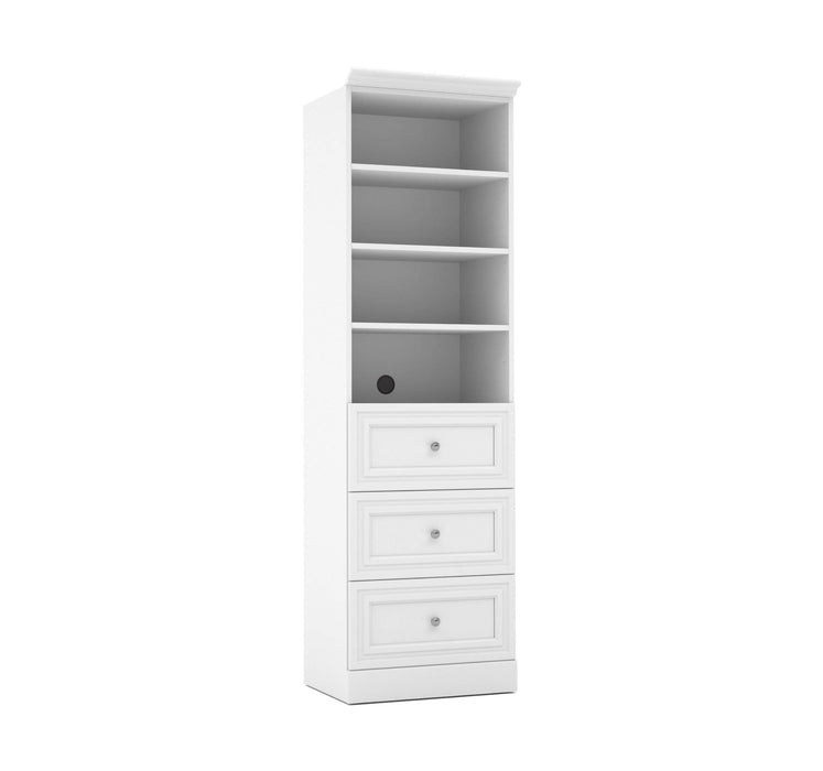"Pending - Bestar Storage Unit White Versatile 25"" Storage Unit with 3 Drawers - Available in 2 Colors"