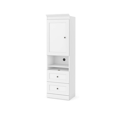 "Pending - Bestar Storage Unit White Versatile 25"" Storage Unit with Mobile Nightstand - Available in 2 Colors"