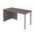 Pending - Bestar Table Desk Bark Grey i3 Plus Table Desk with Two Metal Legs - Bark Grey