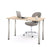 "Pending - Bestar Table Desk Northern Maple Universel 24"" x 48"" Table Desk with Round Metal Legs - Available in 9 Colours"