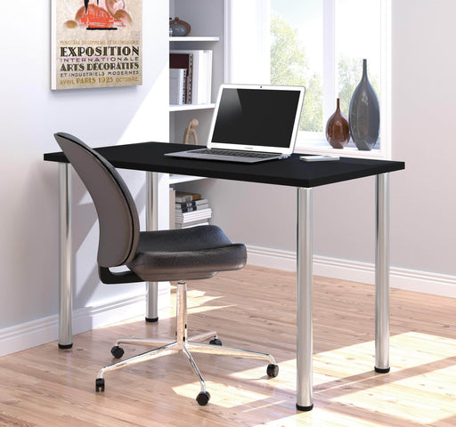 "Pending - Bestar Table Desk Universel 24"" x 48"" Table Desk with Round Metal Legs - Available in 9 Colors"
