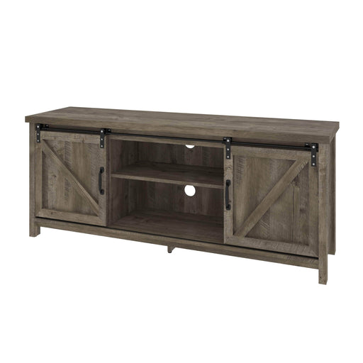 Bestar TV Stand Isida 58W Tv Stand in Brown Oak