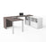 Pending - Bestar U-Desk Bark Grey & White i3 Plus U-Shaped Executive Desk - Available in 2 Colours
