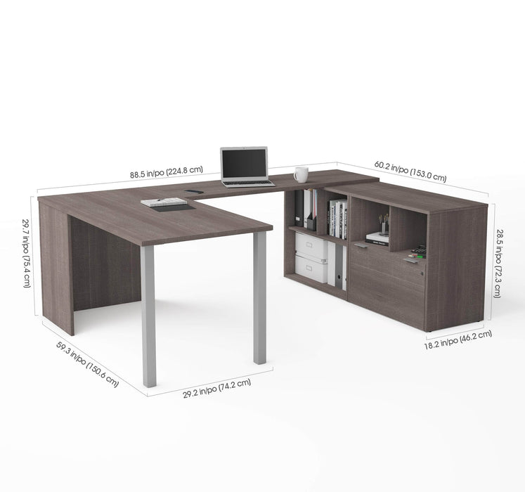 Pending - Bestar U-Desk i3 Plus U-Shaped Executive Desk - Available in 2 Colours