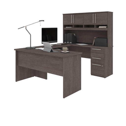 Pending - Bestar U-Desk Innova U or L-Shaped Desk with Hutch - Available in 3 Colors